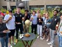 De spelers van basketbalclub Filou Oostende waren welkom voor een etentje in het Bierkasteel.