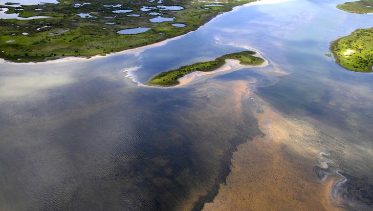 De olievlek in de Golf van Mexico. Foto AP Beeld