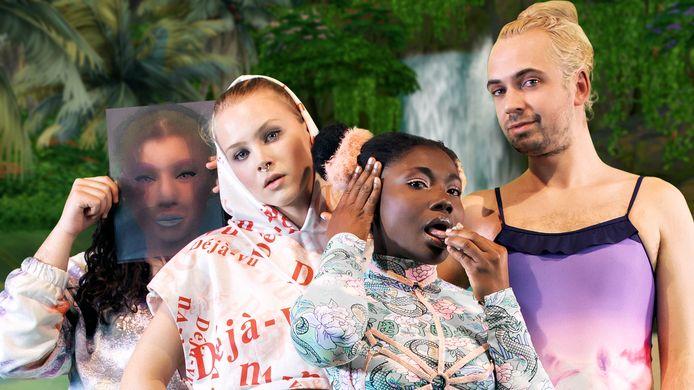 De cast van 'Swipe Island'.