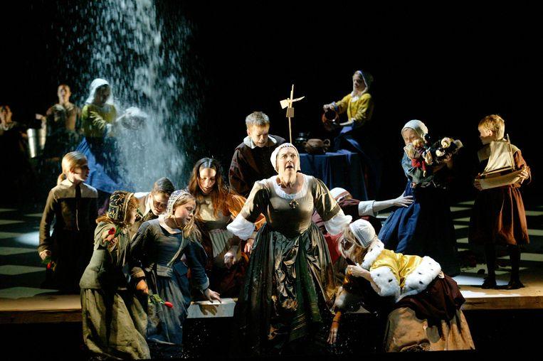 De waterval in Writing to Vermeer. Beeld Hans van den Bogaard