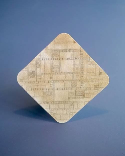 Dé kunstontdekking van het jaar, een bierviltje met een schets van Piet Mondriaan.
