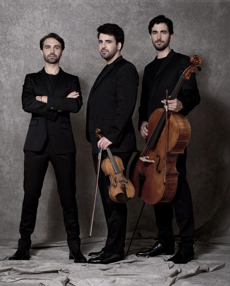 Het Trio Zadig, met Ian Barber, Boris Borgolotto en Marc Girard-Garcia. Beeld Bernard Martinez