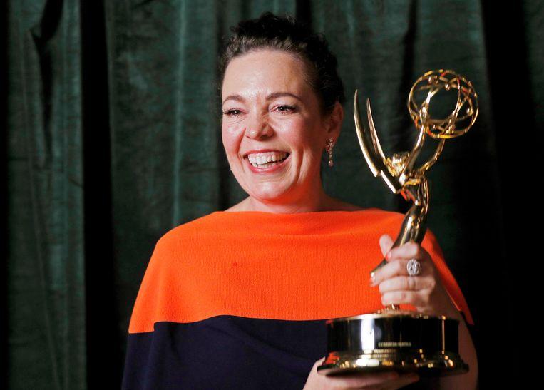 Olivia Colman won de prijs voor beste actrice in een dramaserie, voor haar rol als koningin Elizabeth II in The Crown. Beeld Reuters