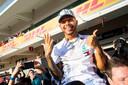 2019: Nummer zes voor Lewis Hamilton. Na de Grand Prix van de Verenigde Staten heeft hij Valtteri Bottas (en Max Verstappen) op veilige afstand staan.