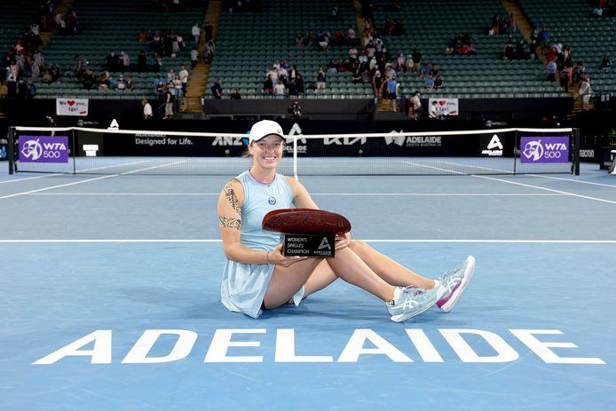 in de finale versloeg ze Swiatek de Zwitserse Belinda Bencic in twee sets.