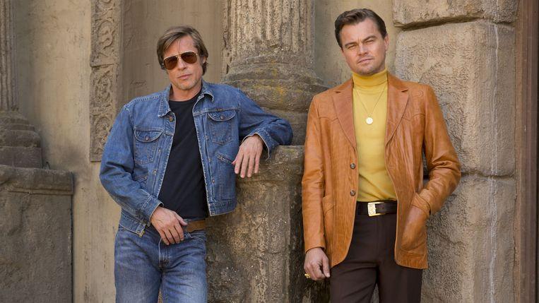 Brad Pitt en Leonardo DiCaprio in 'Once Upon a Time in… Hollywood'. Beeld rechten vrij