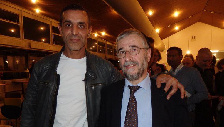 Maatschappelijk ondernemer Saïd Bensellam en oud-rabbijn Lody van de Kamp. Bensellam: 'Wees een inspirator voor een ander' Beeld Hans van der Beek