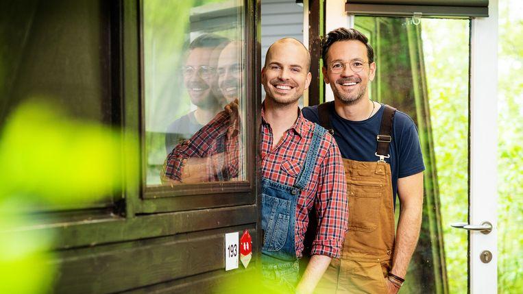 Een van de deelnemende duo's: Ewoud & Tim Beeld VTM