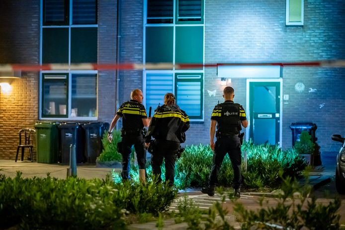 De schietpartij aan de Dieze in Rotterdam-Zevenkamp.