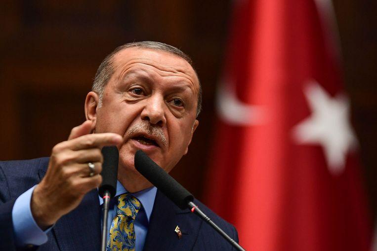 Volgens president Erdogan was de Saoedische journalist Khashoggi het slachtoffer van een 'wrede, geplande' moord.  Beeld Getty Images