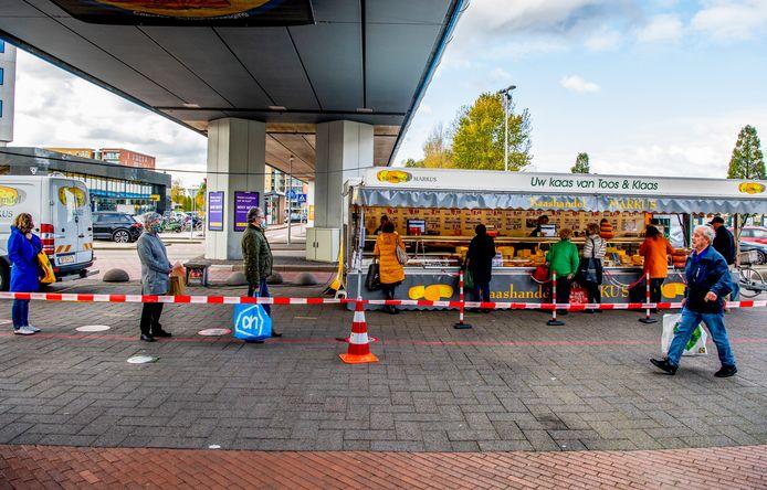 Markt in Capelle aan den IJssel.