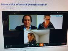 Dalfser politiek vergadert digitaal en probeert ook 'live' te gaan; Hardenberg en Ommen wachten op spoedwet