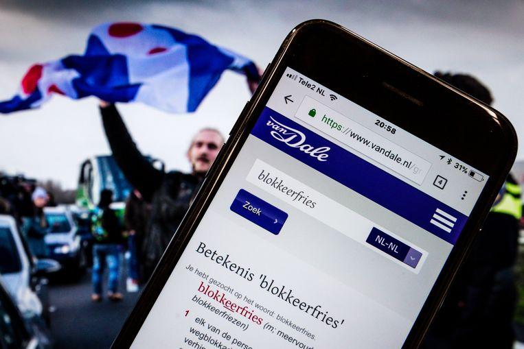 Blokkeerfries werd vorig jaar uitgeroepen tot woord van 2018. Beeld ANP