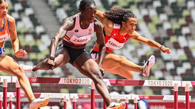 """""""Om de finale te halen, moet ik mijn Belgisch record verbeteren"""": Zagré spurt naar halve finale 100m horden, Broeders overleeft kwalificaties polsstokspringen niet"""