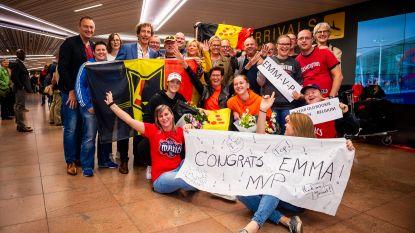 WNBA-kampioene én MVP Emma Meesseman krijgt warm welkom in Zaventem