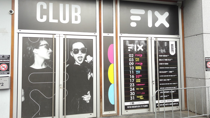 Club FIX aan het Pieter Vreedeplein in Tilburg.