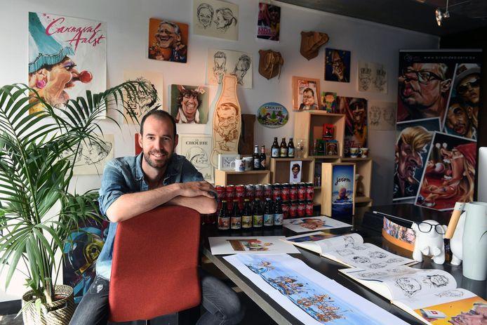 Bram De Baere in zijn atelier.