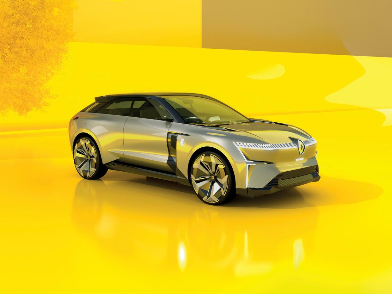 De 'uitschuifbare' Renault Morphoz. Beeld Renault