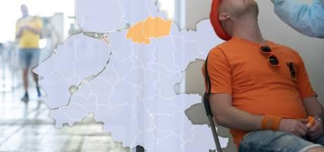 KAART | Geen nieuwe besmettingen in Salland, Staphorst en Zwartewaterland kleuren wel oranje