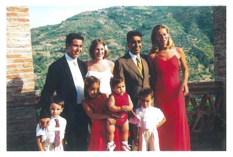 Kaag bij het huwelijk van de oudste zoon van haar man in 2003. Beeld