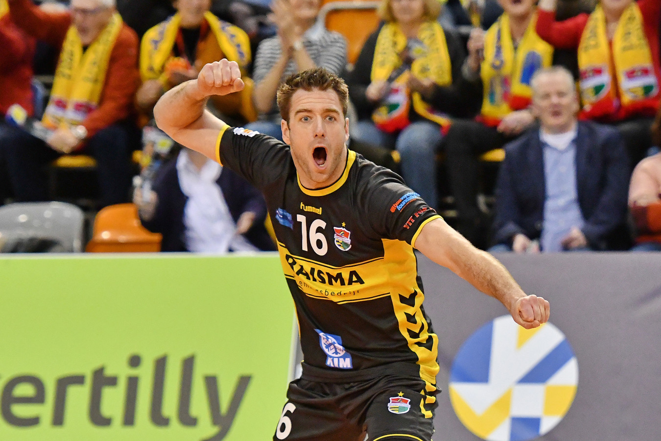 DS-2020-0890: Volleybal: 13-02-2020: Draisma Dynamo Lokomotiv Novosibirsk: ApeldoornCEV cup , seizoen 2019-2020;V.l.n.r: Mats Kruiswijk,
