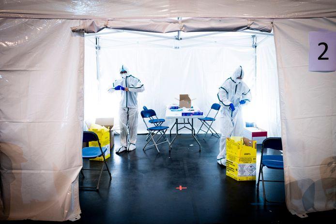 Testcentrum aan de 'Velodrome de St Quentin' in Yvelines, Frankrijk.