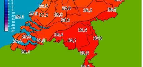 'Eerste' 30 graden aangetikt in Eindhoven, hittegolf zorgt ook voor erg slechte lucht boven Brabant
