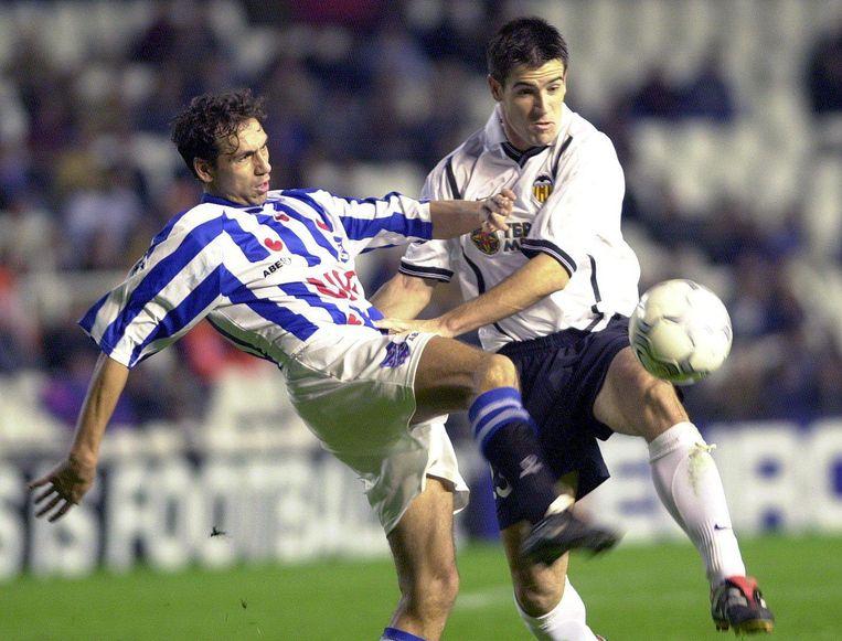 Jeffrey Talan voor Heerenveen in de Champions League. Beeld EPA