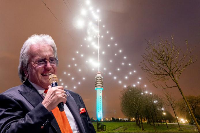 Lee Towers steekt dit jaar de grootste kerstboom ter wereld aan, in IJsselstein.