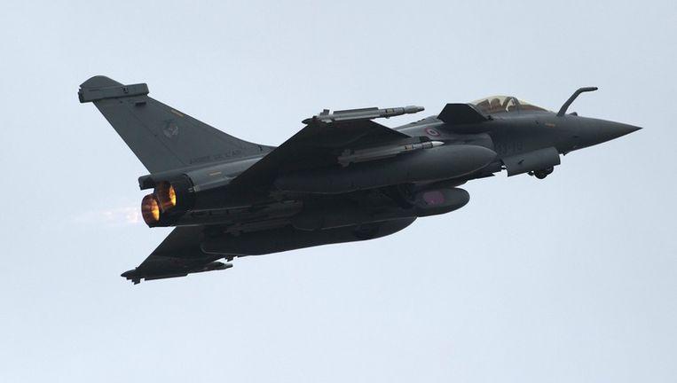 Een Franse Rafale, de tegenhanger van de F-16. Beeld epa