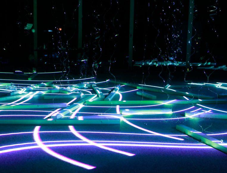 Soundscape en lichtshow zijn met elkaar verstrengeld. Beeld