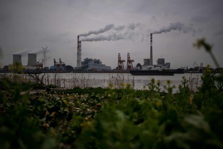 De Wujing Coal-Electricity Power Station in Shanghai Beeld AFP