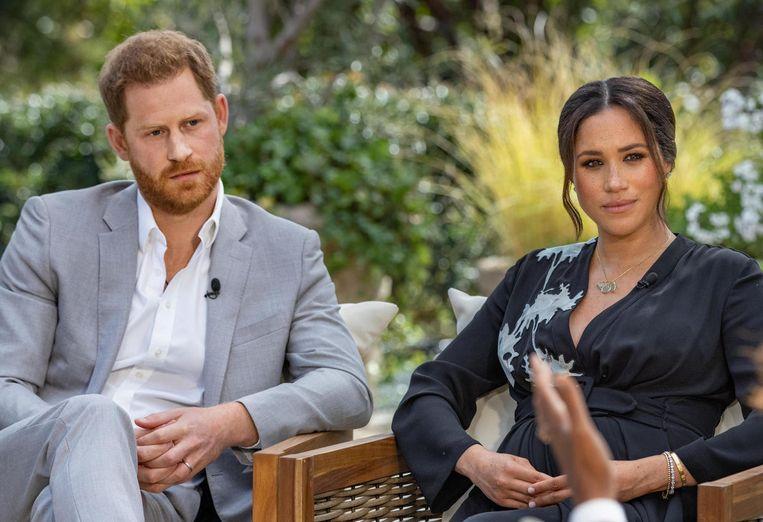 Harry en Meghan bij Oprah. Beeld