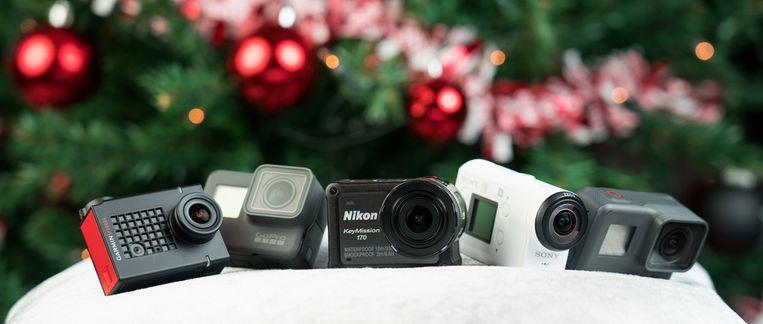 Alle wintersportwaardige action cams op een rij.