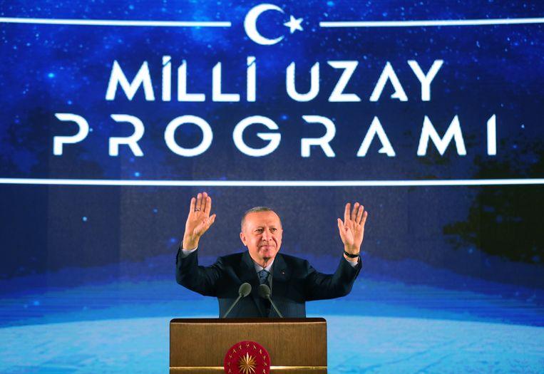 De Turkse president Erdogan eerder deze maand in Ankara. Beeld EPA