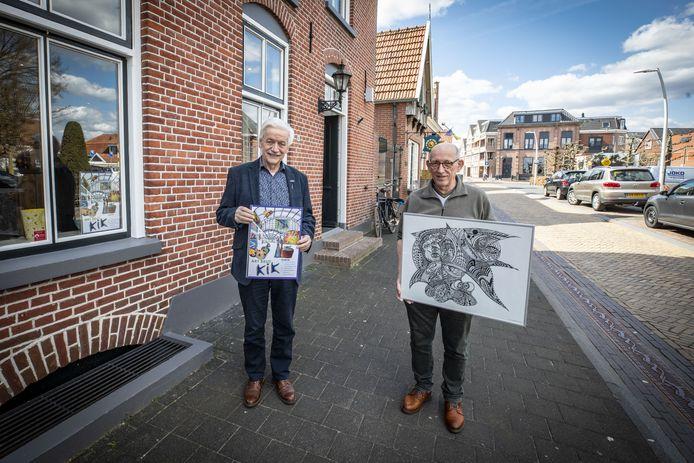 Op de foto Jan Wegdam (L) en kunstenaar Hans Willemsen (R).
