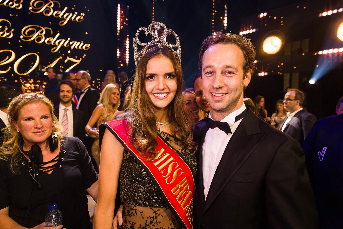 Ex-Miss België Romanie Schotte met haar vriend Stefan Talpe (broer van Louis Talpe)
