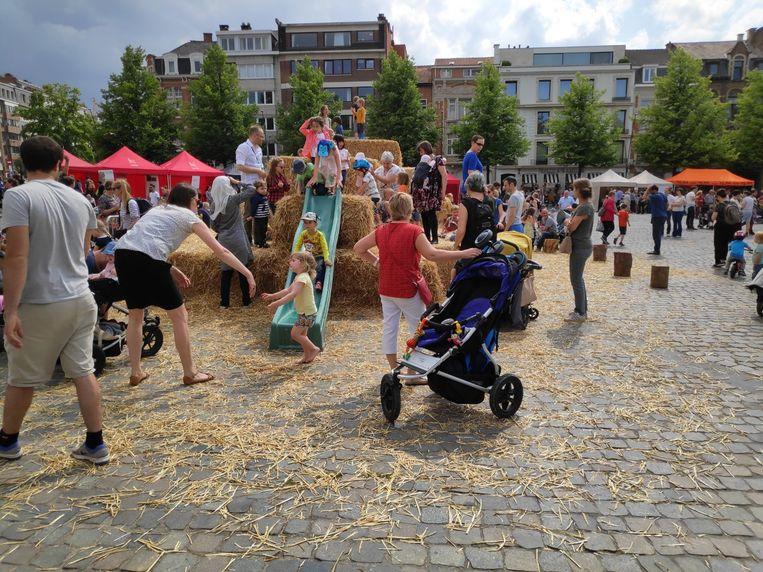 Leuven boert op het Ladeuzeplein.