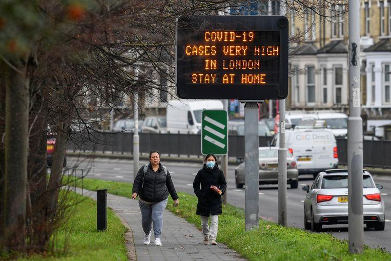 In Londen lopen de coronabesmettingen snel op. Beeld REUTERS