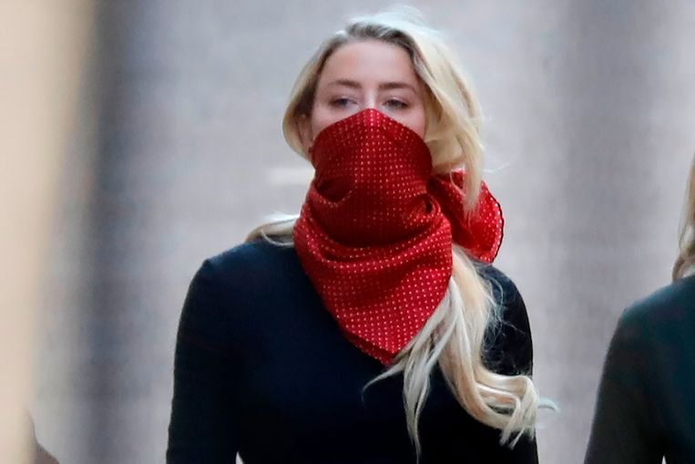 Amber Heard, voormalige partner Johnny Depp, aanwezig in Londen Beeld AFP
