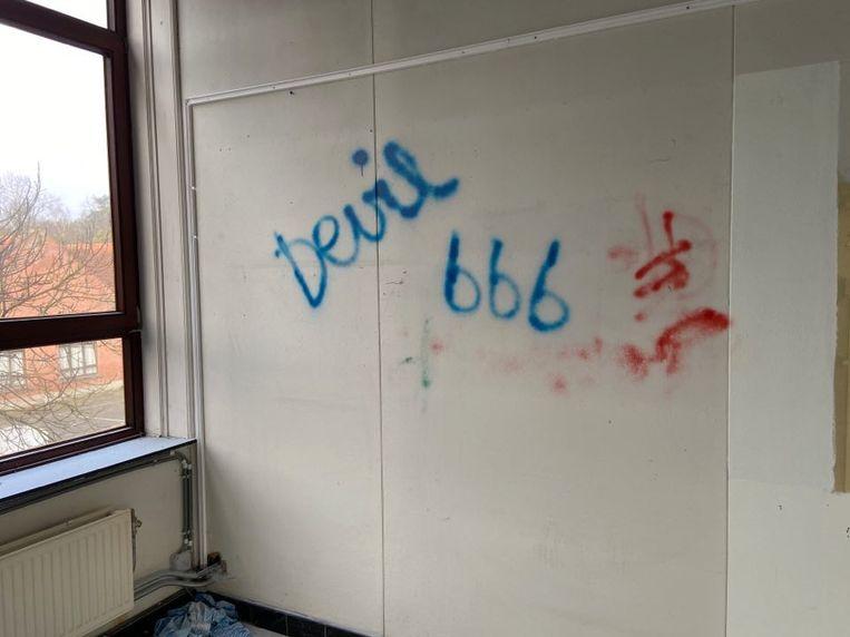 Graffiti op de muren