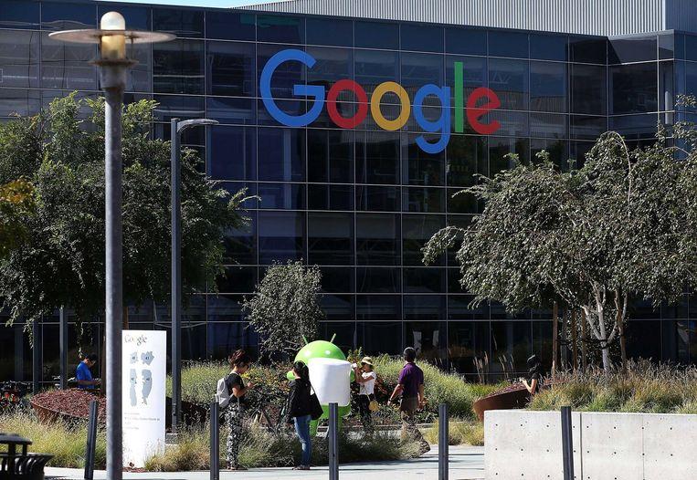 Het hoofdkantoor van Google in Mountain View. Beeld afp