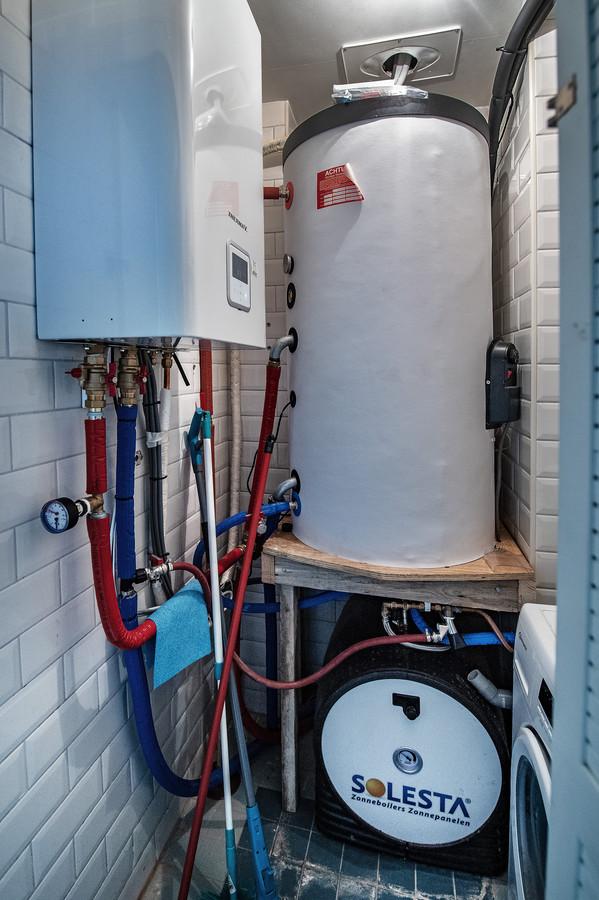 In het 'washok' paste de boiler precies.