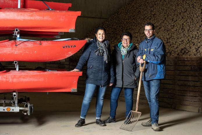 Carlien Willemsen-Becu, Tonie Becu en Wim Le Grand.