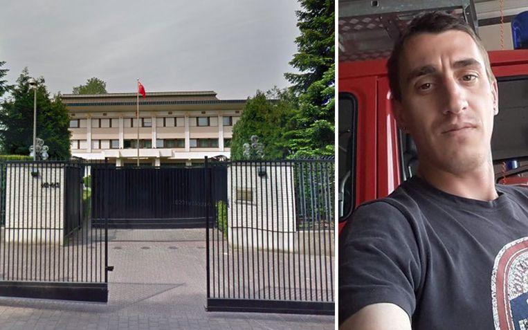 Iskren Yordanov (36) werd dood aangetroffen bij de Chinese ambassade in Brussel.