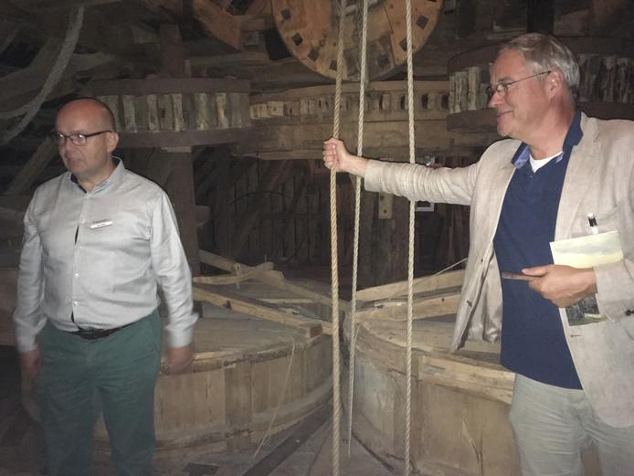 Opwettense Watermolen in Nuenen met gids Remmet van Luttervelt.