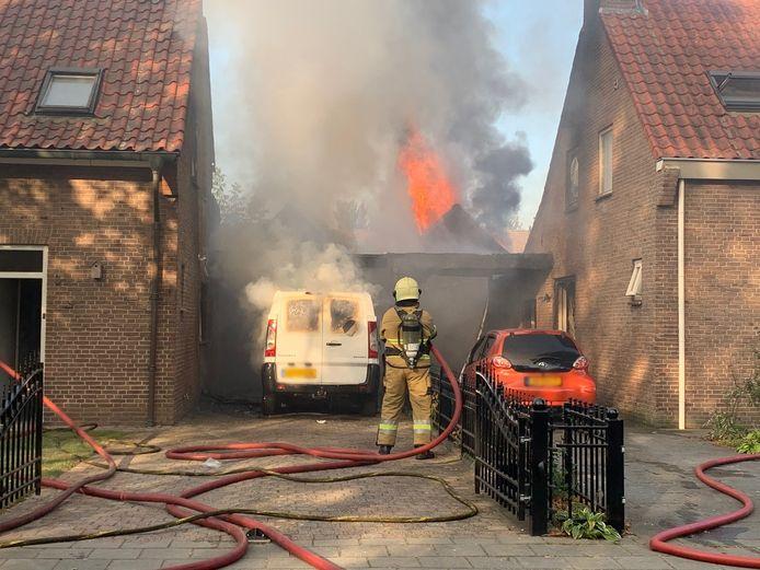 Brand bij woning in SInt-Michielsgestel.