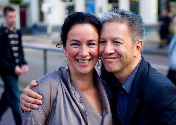 Femke Halsema en haar partner Robert Oey.
