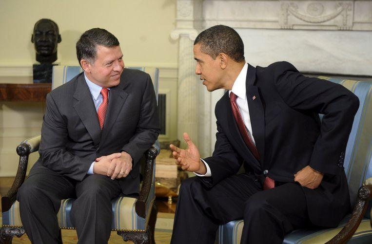 Abdullah, die in april overleg voerde met de Amerikaanse president Barack Obama, zegt dat Israël een allesomvattend vredesplan zal worden voorgelegd. Daarbij speelt de Islamitische Conferentie, waar 57 landen bij zijn aangesloten, volgens de koning een sleutelrol. Foto EPA Beeld