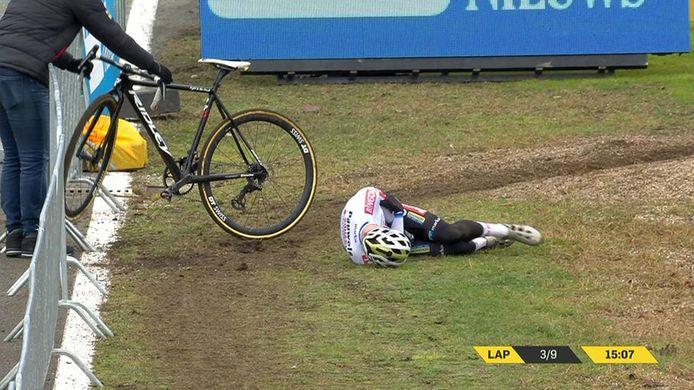 Eli Iserbyt kwam zwaar ten val in Heusden-Zolder.